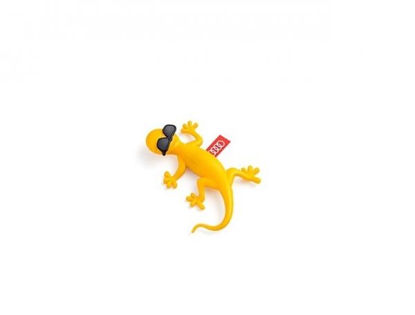 Audi Original Lufterfrischer, Duftgecko mit Sonnenbrille tropischer Duft, gelb