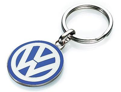 VW Schlüsselanhänger klassisches Logo emailliert, Blau