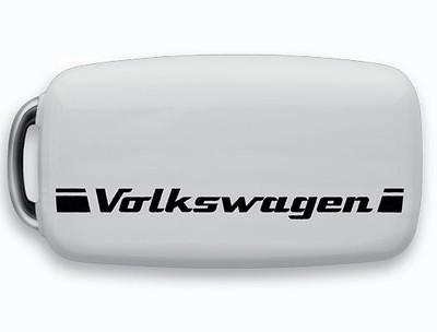 VW Schlüsselblende mit Volkswagen Schriftzug, Weiß