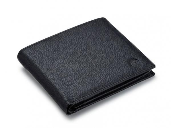 VW Geldbörse Leder, schwarz