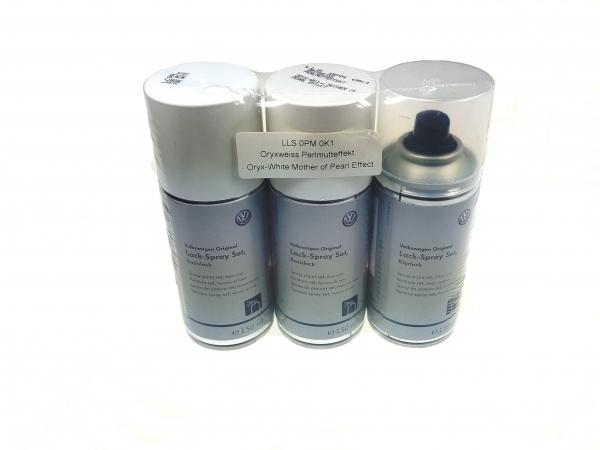 Lackspray-Set oryxweiss-perlmutteffekt/tofanweiss-krstalleffekt L0K1 0K1