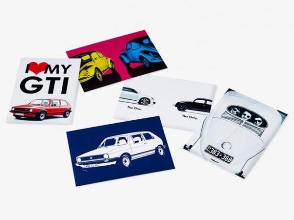 VW Klassik Postkarten-Set mit 5 Motiven