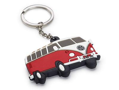 VW Schlüsselanhänger, T1 Bulli, Rot7Weiß