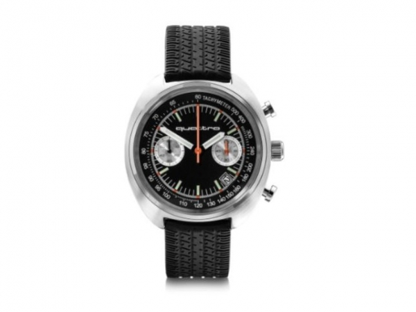 Audi heritage Chronograph, schwarz/silber