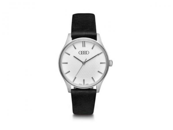Audi Uhr, Damen, silber/schwarz