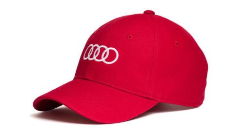Audi Baseballkappe, rot mit weißen Audi Ringen