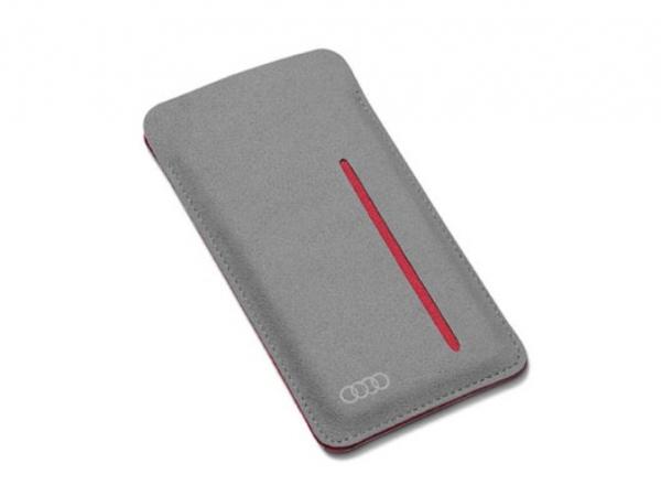 Audi Smartphone Etui Nardia, grau/rot