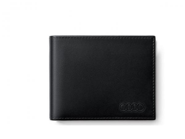 Audi Geldbörse Leder, Herren, schwarz