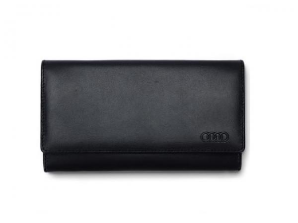 Audi Geldbörse Leder, Damen, schwarz