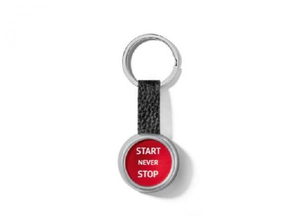Audi Sport Schlüsselanhänger Start/Stop, rot/silber