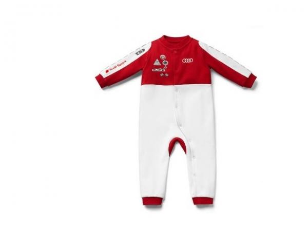 Audi Sport Strampler Racing, Baby, weiß/rot