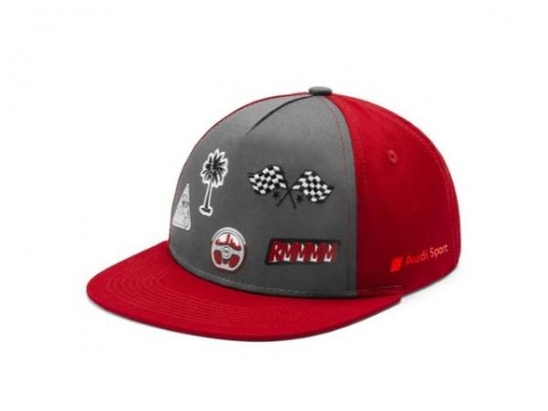 Audi Sport Cap, Kleinkinder, grau/rot