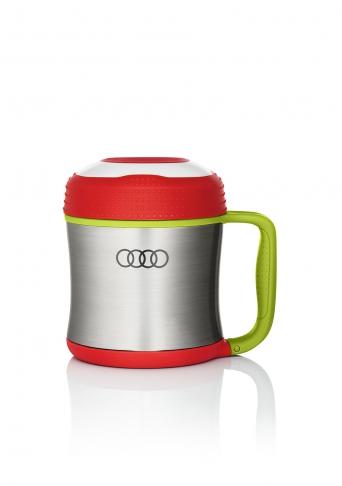 Audi Snackbox klein, Edelstahl