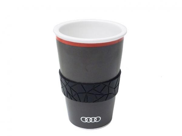 Audi Trinkbecher, Polygon quantumgrau