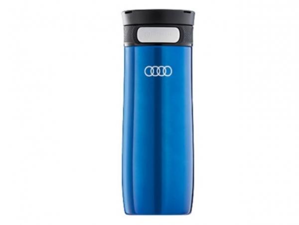 Audi Trinkbecher Edelstahl, dunkelblau