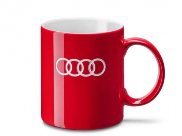 Audi Tasse, rot