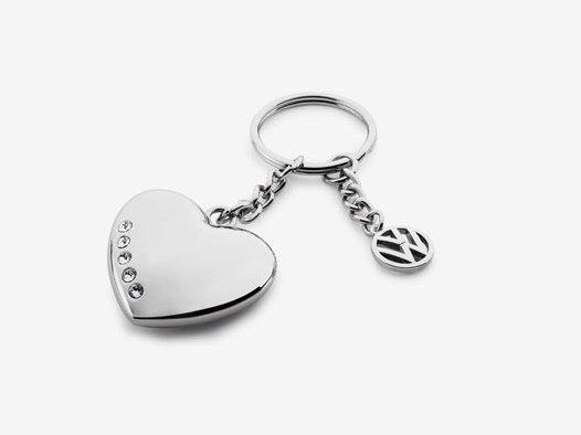 Volkswagen Schlüsselanhänger mit Herz und VW Logo