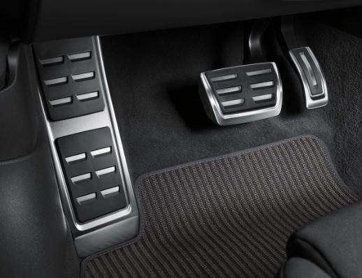 Audi Pedalkappen und Fußstütze  in Edelstahl, Automatikgetriebe