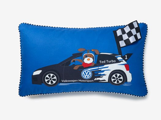 VW Kinderkissen Ted Turbo, blau