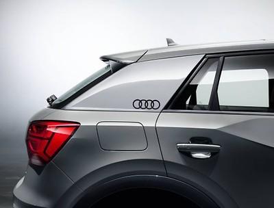 """Audi Original Aufkleber-Set """"Audi Ringe"""" für C-Blade, Brillantschwarz"""