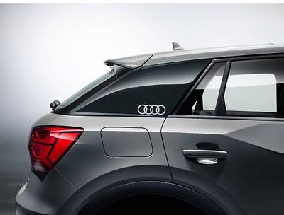 """Audi Original Aufkleber-Set """"Audi Ringe"""" für C-Blade, Florettsilber"""