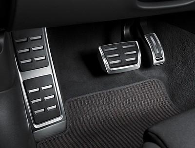 Pedalkappen in Edelstahl mit Fußstütze A4, A5, Q5 für Fahrzeuge mit Automatikgetriebe