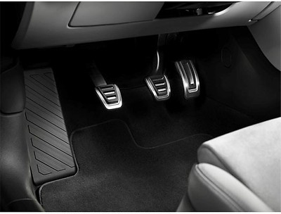 Audi Pedalkappen in Edelstahl, Handschalter