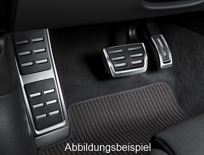 Audi Pedalkappen und Fußstütze  in Edelstahl, S tronic