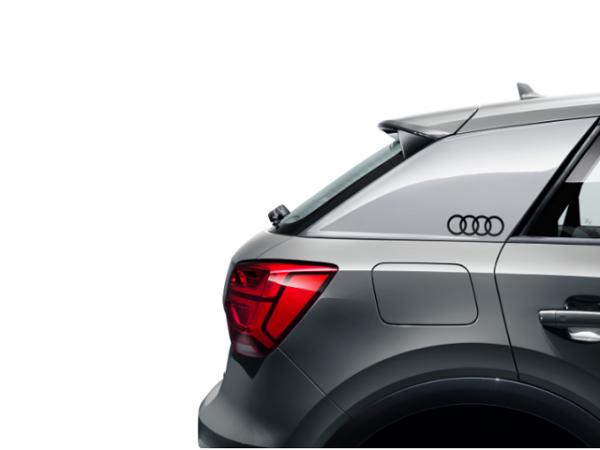 Dekorfolien Audi Ringe brillantschwarz