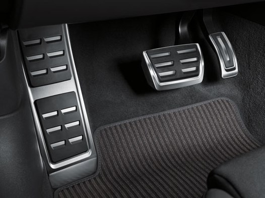 Audi A4/A5 8W Pedalkappen in Edelstahl, S tronic