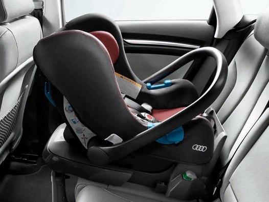 Audi Babyschale misanorot/schwarz