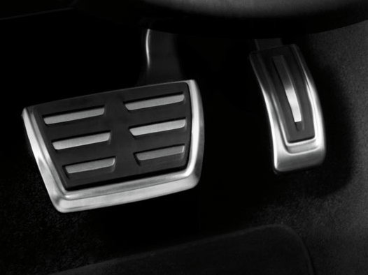 Audi Pedalkappen in Edelstahl, für S tronic