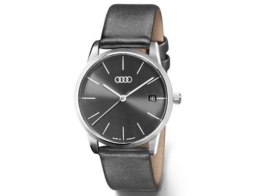 Audi Damenuhr Flatline, grau
