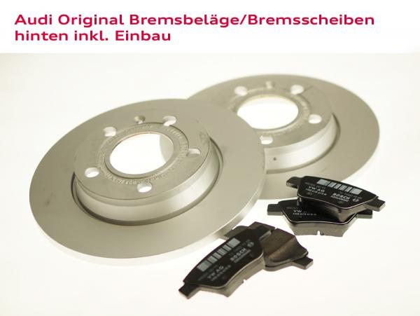 Audi Original Bremsbeläge und Bremsscheiben hinten inkl. Einbau Audi TT (Typ 8J)