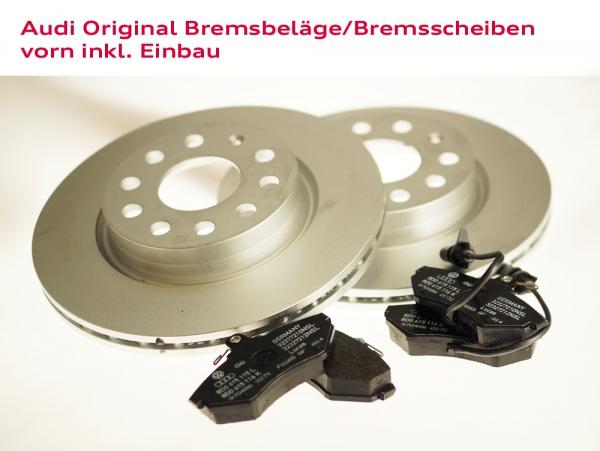 Audi Original Bremsbeläge und Bremscheiben vorn inkl. Einbau Audi A2 (Typ 8Z)