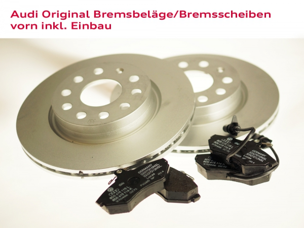 Audi Original Bremsbeläge und Bremsscheiben vorn inkl. Einbau Audi A3 (Typ 8L)