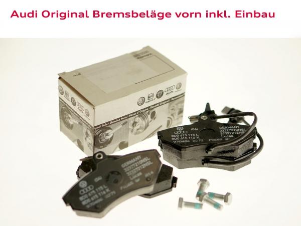 Audi Original Bremsbeläge vorn inkl. Einbau Audi A4 (Typ 8D)