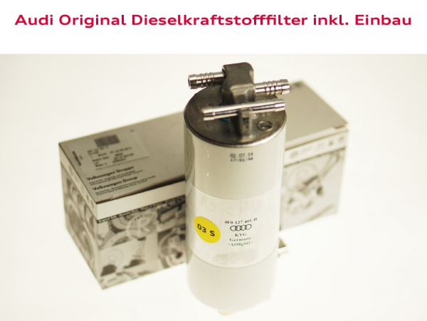Audi Original Dieselkraftstofffilter inkl. Einbau Audi TT (Typ 8J)