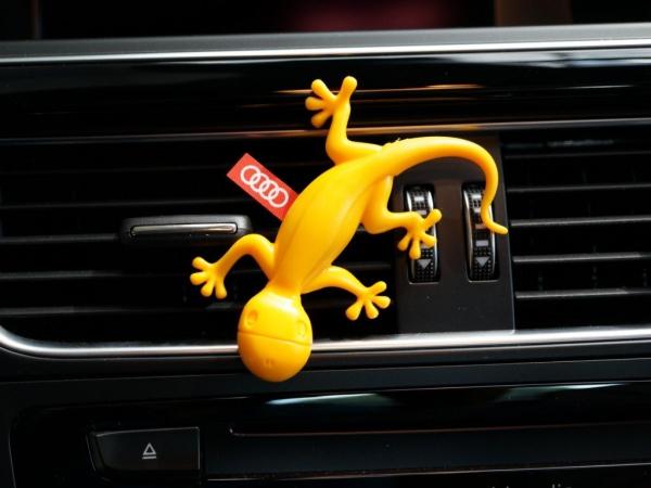 Audi Original Lufterfrischer, Duftgecko tropischer Duft, gelb