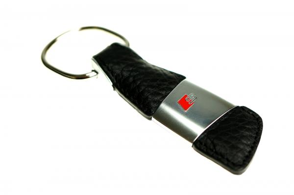 Audi Schlüsselanhänger Leder mit S Logo