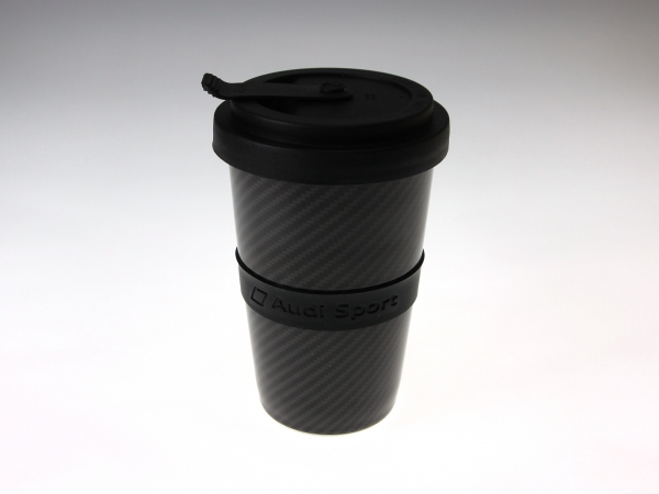 Audi Sport Trinkbecher in Carbonoptik 400 ml
