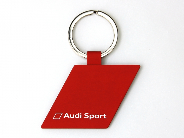 Audi Sport Schlüsselanhänger Raute, metall