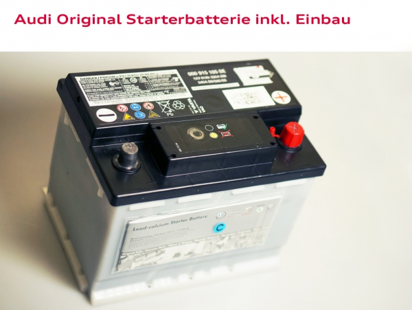 Audi Original Starterbatterie inkl. Einbau Audi A6 (Typ 4B)