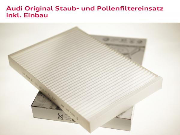Audi Original Staub- und Pollenfiltereinsatz inkl. Einbau Audi A6 (Typ 4B)