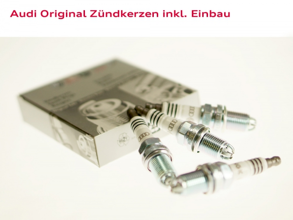 Audi Original Zündkerzen inkl. Einbau Audi A4 (Typ 8D)