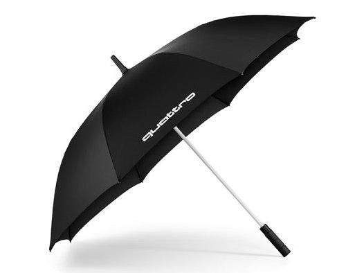 Audi quattro Regenschirm, schwarz