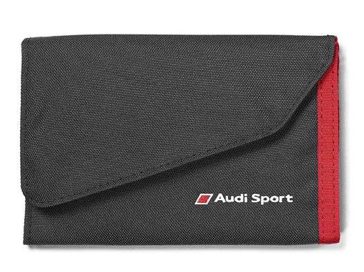 Audi Sport Geldbörse schwarz/rot