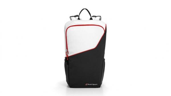 Rucksack, Audi Sport, schwarz/rot/weiß