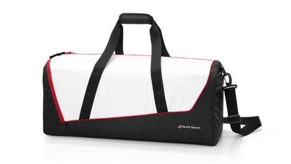 Audi Sport, Sporttasche, weiß/schwarz/rot