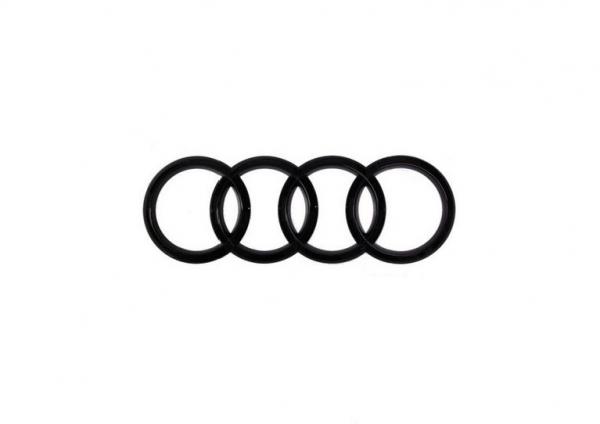Audi Ringe A3 RS3 Emblem schwarz glänzend für hinten
